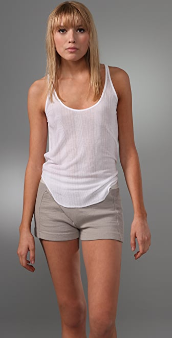 T by Alexander Wang Tencel Variegated Rib Tank