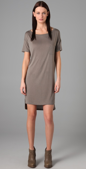 T by Alexander Wang Classic Boat Neck Dress