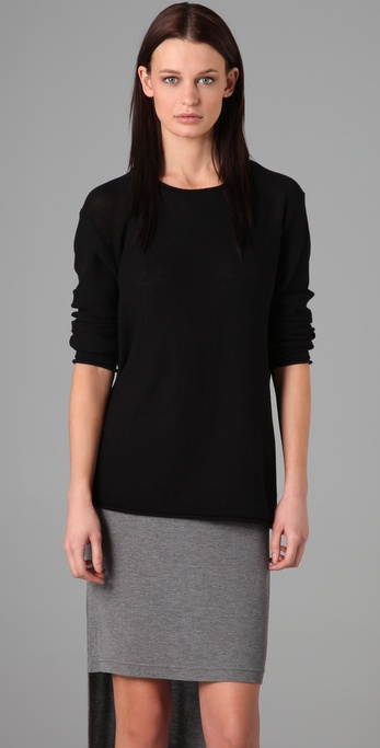 T by Alexander Wang High Twist Cotton Sweater