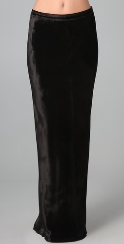 T by Alexander Wang Panne Velvet Long Skirt