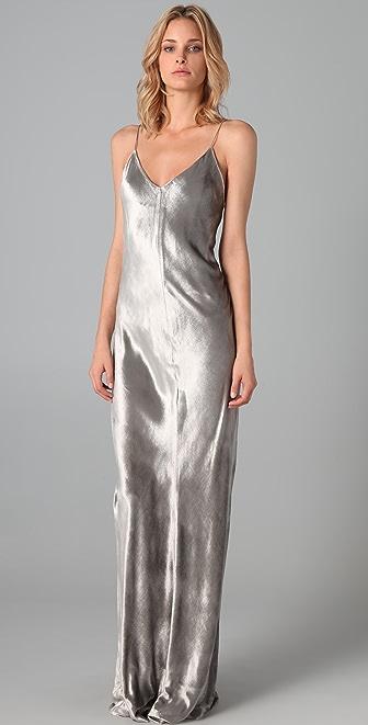 T by Alexander Wang Panne Velvet Long Dress