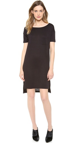T by Alexander Wang Classic Boat Neck Dress with Pocket at Shopbop / East Dane