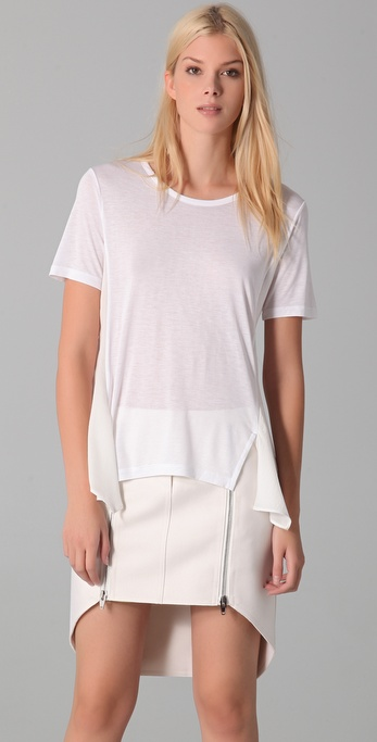 T by Alexander Wang Satin Drape Tee