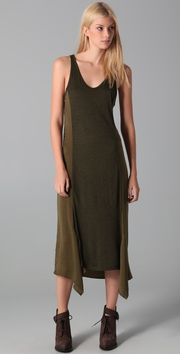 T by Alexander Wang Satin Midi Tank Dress