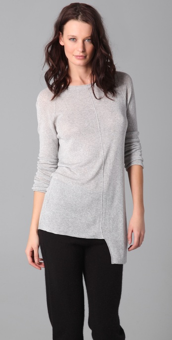 T by Alexander Wang Loose 1x1 Ribbed Knit Tunic