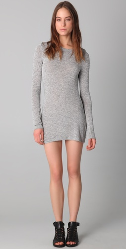 T by Alexander Wang Marled Drape Back Mini Dress