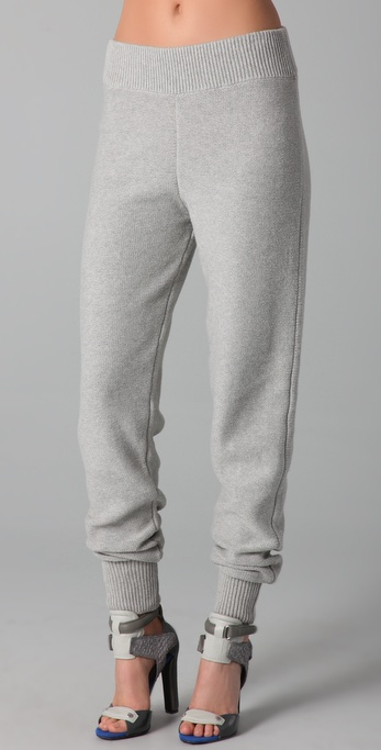 T by Alexander Wang Cotton Knit Sweatpants