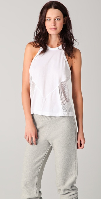 T by Alexander Wang Cotton Netting Combo Tank