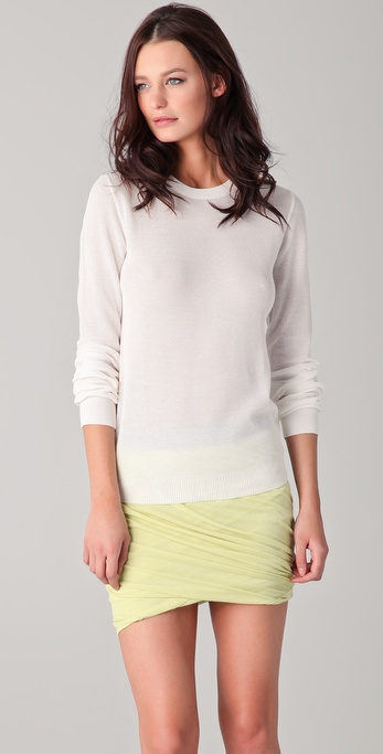 T by Alexander Wang Waffle Knit Long Sleeve Top