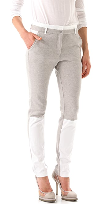 T by Alexander Wang Pique Oxford Combo Sweatpants