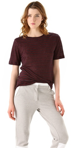 T by Alexander Wang Linen Stripe Tee