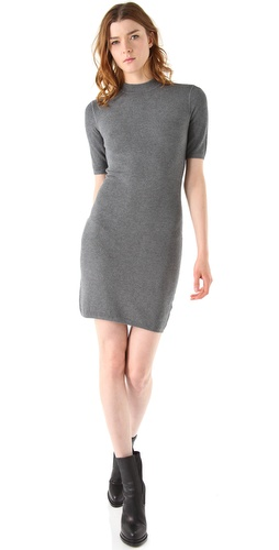 T by Alexander Wang Short Sleeve Thermal Dress