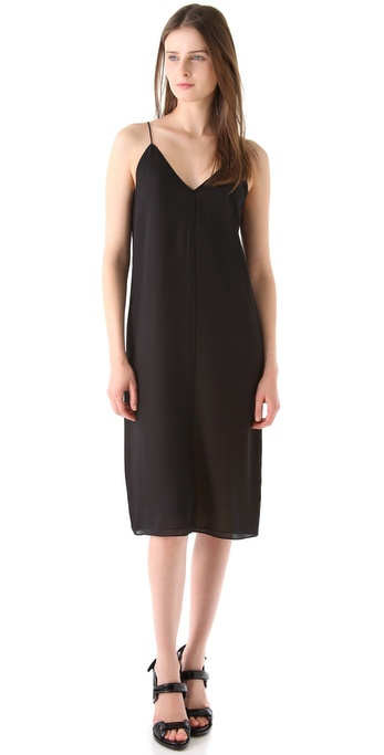 T by Alexander Wang Silk Combo Reversible Slip Dress