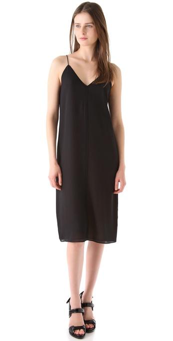 T by Alexander Wang Silk Combo Reversible Slip Dress