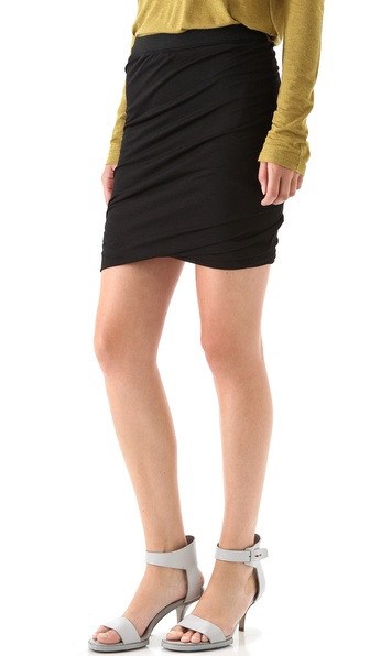 T by Alexander Wang Draped Jersey Skirt