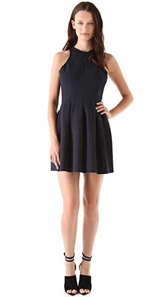 T by Alexander Wang Neoprene Inverted Pleat Dress