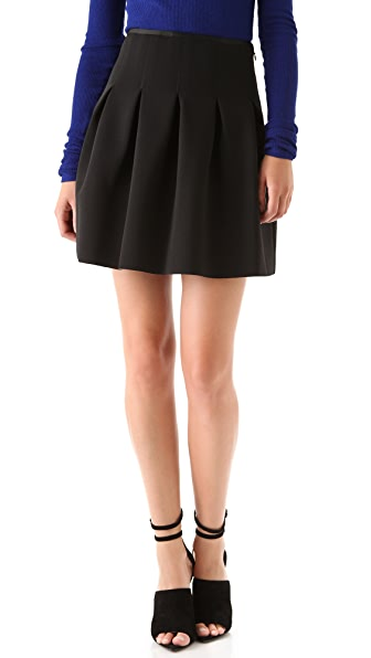 T by Alexander Wang Neoprene Inverted Pleat Skirt