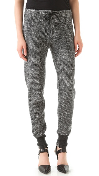 T by Alexander Wang Tweed Print Sweatpants