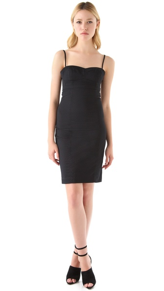 T by Alexander Wang Jacquard Bustier Dress