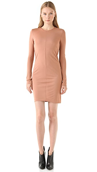 T by Alexander Wang Jersey Drape Mini Dress