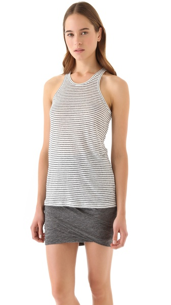 T by Alexander Wang Linen Stripe Tank
