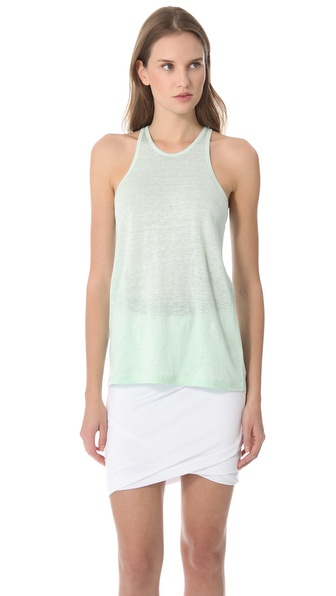 T by Alexander Wang Linen Jersey Tank