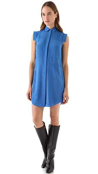 T by Alexander Wang Combo Shirt Dress