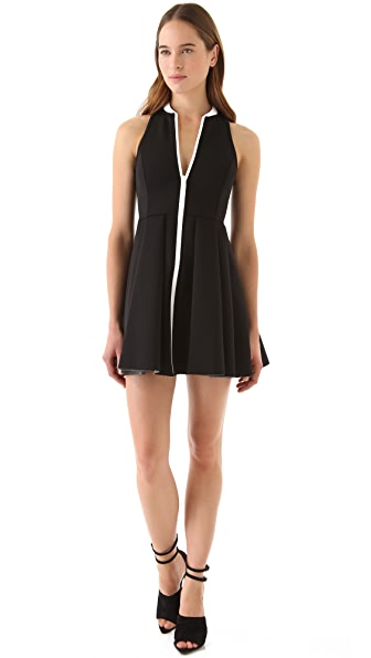 T by Alexander Wang Sleeveless Neoprene Dress with Collar