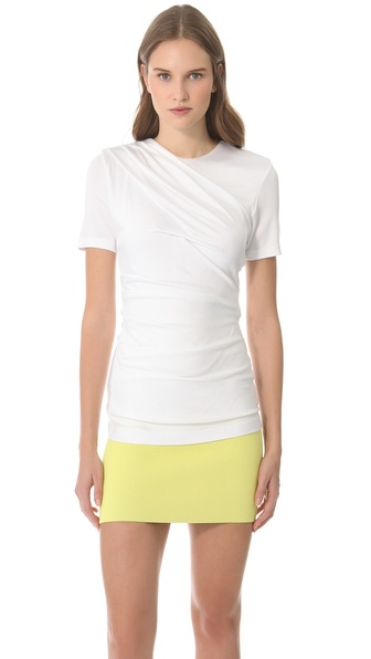 T by Alexander Wang Pique Drape Tee