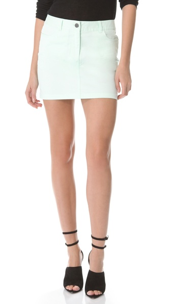 T by Alexander Wang Twill Jean Skirt
