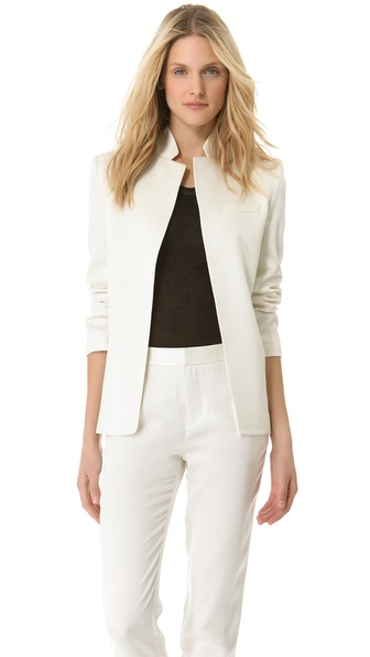 T by Alexander Wang Shiny Crepe Angle Blazer