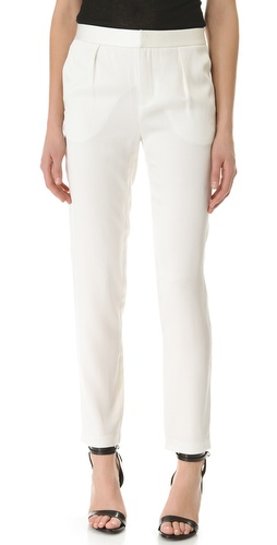 T by Alexander Wang Shiny Crepe Peg Trousers