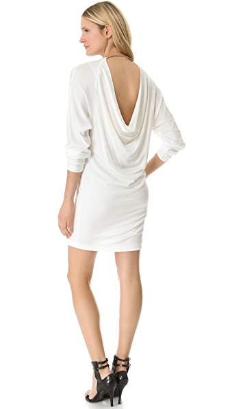 T by Alexander Wang Pique Drape Back Dress