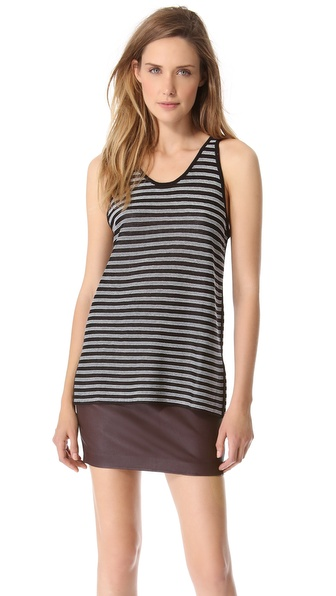 T by Alexander Wang Reversible Stripe Tank
