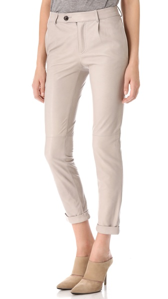 T by Alexander Wang Lightweight Leather Trousers