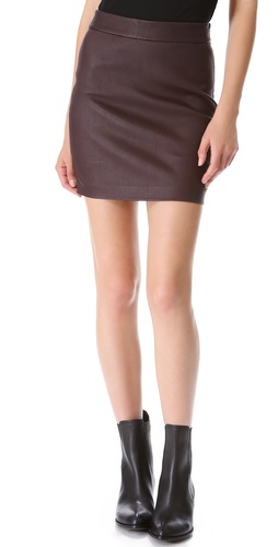 T by Alexander Wang High Waisted Leather Skirt at Shopbop / East Dane