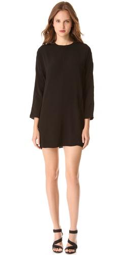 T by Alexander Wang Long Sleeve Lattice Dress