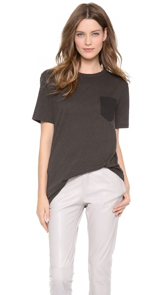 T by Alexander Wang Contrast Pocket Jersey Tee