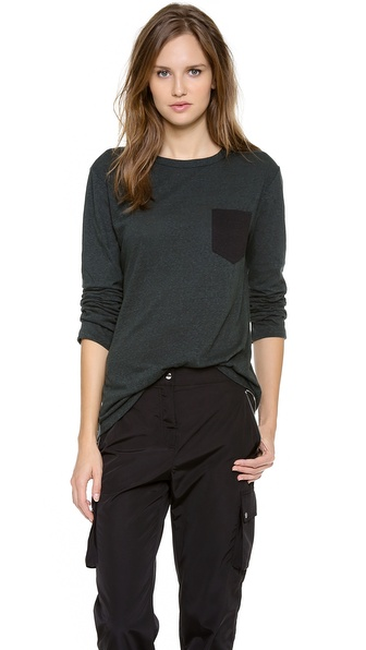T by Alexander Wang Pocket Long Sleeve Tee