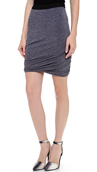 T by Alexander Wang Mohair Jersey Double Twist Skirt