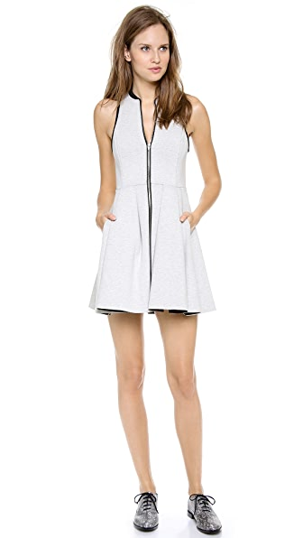 T by Alexander Wang Jersey Bonded Neoprene Dress