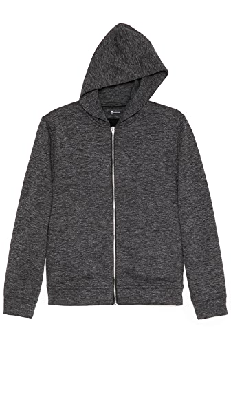 T by Alexander Wang Fleece Zip Up Hoodie