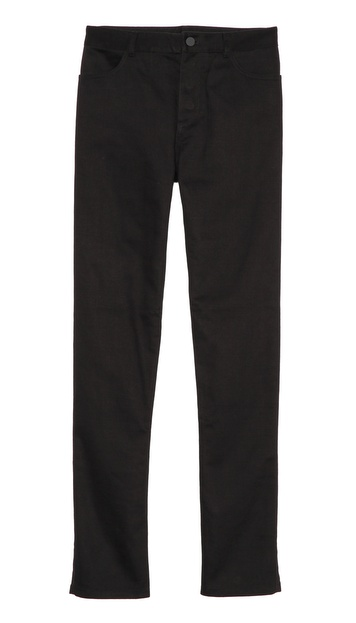 T by Alexander Wang Twill Jeans with Leather Back Pocket