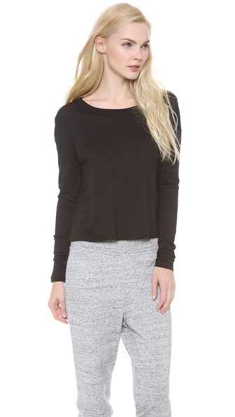 T by Alexander Wang Single Jersey Long Sleeve Tee