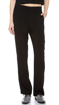 T by Alexander Wang Crepe Lightweight Track Pants