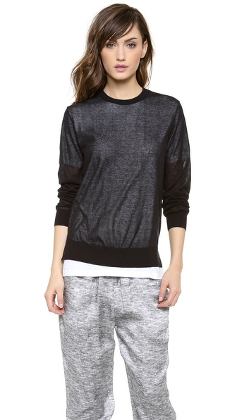 T by Alexander Wang Loose Knit Over Tee Pullover