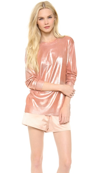 T by Alexander Wang Foil Printed Lightweight Pullover