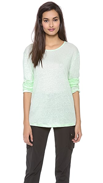 T by Alexander Wang Linen Silk Long Sleeve Tee