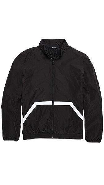 T by Alexander Wang Lightweight Nylon Hidden Hood Jacket