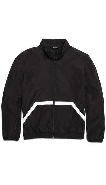 T by Alexander Wang Lightweight Nylon Hidden Hood Jacket